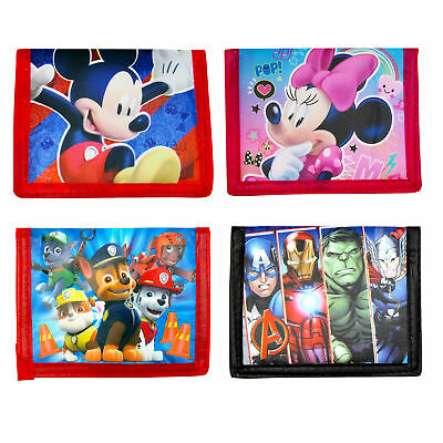 Disney Marvel Paw Patrol Characters Kids Bi-Fold Wallets
