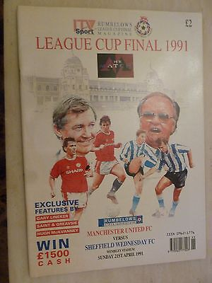 1991 LEAGUE CUP FINAL PROGRAMME - MANCHESTER UNITED v SHEFFIELD WEDNESDAY