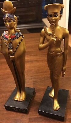 Summit Collection Discontinued Egyptian Pair Figurines Gold God Goddess