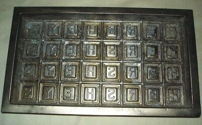 Antique Hershey Chocolate Candy Bar Mold Old Vintage Factory Advertising