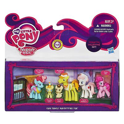 My Little Pony Mini Figures CAKE FAMILY BABYSITTING FUN Character Collection