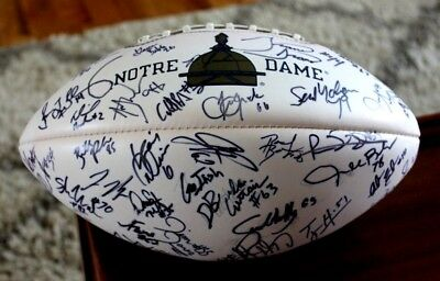 1999-2001 Notre Dame Fighting Irish Team Signed Football Baden Collectors Series