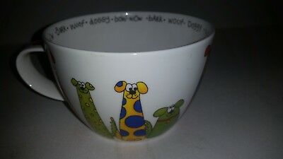 Dunoon Animal Crackers Large Fine Bone China Dog Doggy Mug Cup by Sarah Mercer