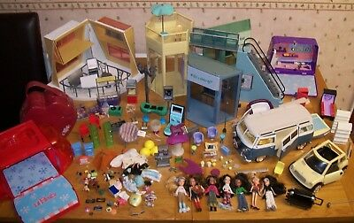 * Large Job Lot Bratz Dolls & Accessories 7 Dolls , Campervan , Escalator etc *