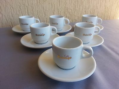 6 Tasses A Cafe Malongo Lot Neuf