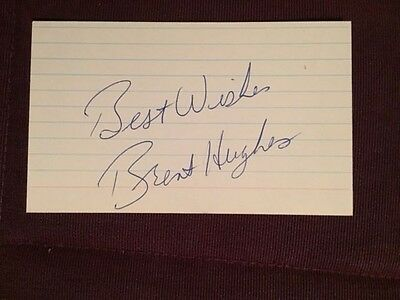 Brent Hughes Flyers Kings Autographed Signed Index Card