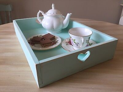 New Handmade Serving Tray / Outbox. Shabby Chic. French Country. Tea.