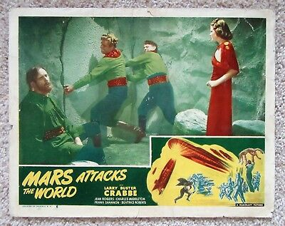 Mars Attacks The World Orig 1950 Re-Release Lc #7 11X14 Larry Buster Crab Good