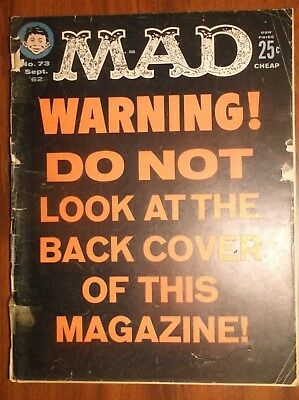Mad Magazine Vintage Lot Of (4) From 1962