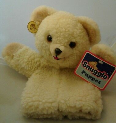 """1986 Vintage Snuggle Bear Puppet Fabric Softener 10"""" With Tags Lever Brothers"""