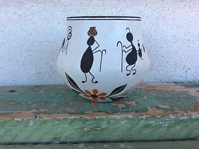 Great Acoma Pueblo Anne Lewis Pictorial Pottery Jar N R.