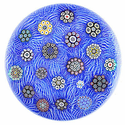 Peter McDougall 2011 #4 Scattered Millefiori on Blue Lace L/E