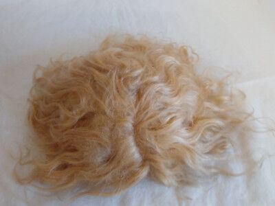 """NICE ANTIQUE 10-12"""" Blonde Mohair Doll Wig for Composition HP or Bisque Doll"""