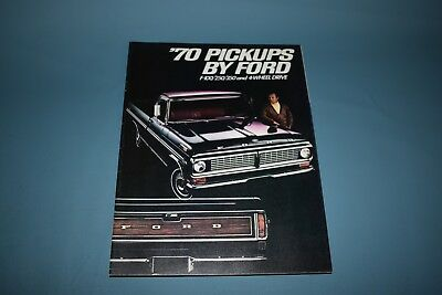 1970 Ford Pick Up Truck F100 250 350 Four Wheel Drive Sales Brochure Canadian