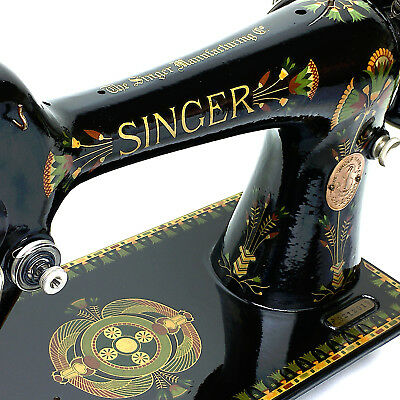Fully Serviced & Restored 1919 SINGER 66k Lotus Vintage Sewing Machine by 3FTERS
