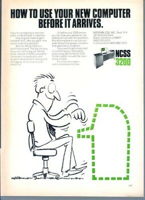 1978 National CSS 3200 New Computer NCSS Vintage Print Ad Advertisement 1970s