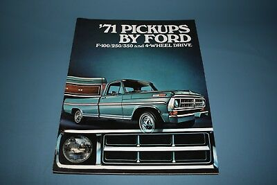 1971 Ford Pick Up Truck F100 250 350 Four Wheel Drive Sales Brochure Canadian