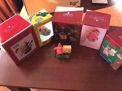 SpongeBob Heirloom Carlton Cards Ornaments Lot Kurt S Adler Christmas