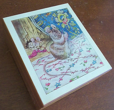 WERE A RICHMAN fiddler roof BEATRIX POTTER mouse wood trinket MUSIC jewelry BOX