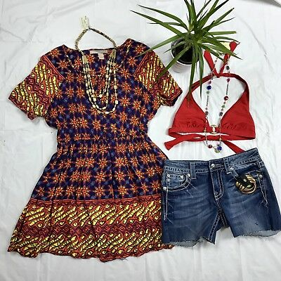 6 Pcs  Womens Clothing Lot Outfit Forever 21 Dress Small, Miss Me DenimShorts 27