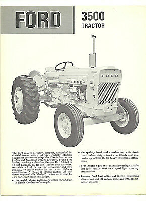 Ford 3500 Tractor Brochure