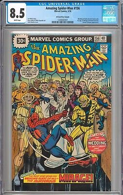 The Amazing Spider-Man #156 RARE 30 CENT PRICE VARIANT CGC 8.5 VF+ WHITE PAGES