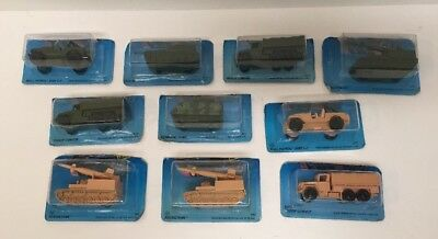 Vintage 1980's Hot Wheels Military Vehicle Lot Of 10