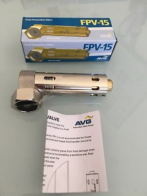 AVG Solar Anti Frost Protection Valve FPV-15 15mm half inch