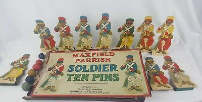 Extremely Rare Maxfield Parrish Soldier 10 Pins Game 1921