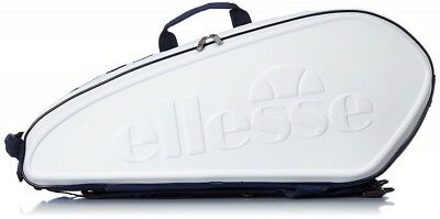 New Ellesse Tennis Racket Bag For 6 Pieces Sticking EAC6520 W White Japan Import