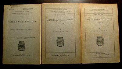 Extinctions- 3 Extremely Old Mineral Handbooks Schaller- All Over 100 Years Old!