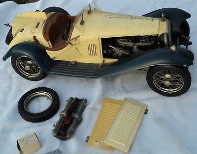 Vintage Pocher Alfa Romeo Sport Coupe Metal & Plastic 1/8 Scale Model Kit As Is