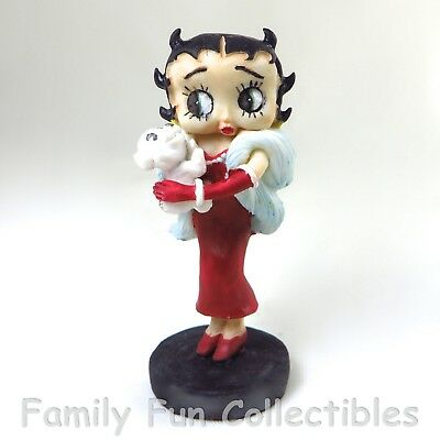 BETTY BOOP~1994 Dakin Figurine~Red Dress~with Pudgy Figure D~NEW