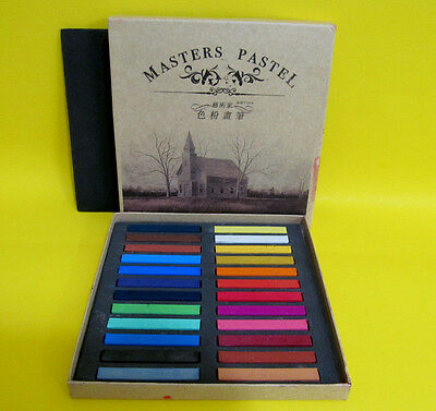 Pastel Sticks 24 Assorted Colors Masters Craft Supplies Painting Supplies