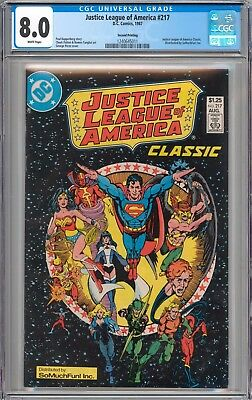 Justice League of America #217 RARE SO MUCH FUN VARIANT CGC 8.0 VF WHITE Pages