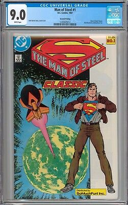 Superman the Man of Steel #1 RARE SO MUCH FUN VARIANT CGC 9.0 VF/NM WHITE Pages