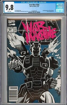 Iron Man #282 CGC 9.8 NM/MT 1st Appearance of War Machine WHITE Pages New Slab