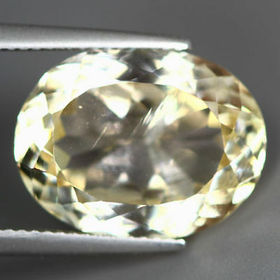 13.415 Ct Unique Rare Unbelievable Luster Hot Yellow Natural Kunzite Gem !!!