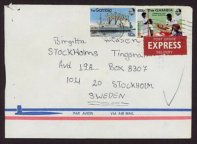 Gambia | 1985 Express Airmail Cover