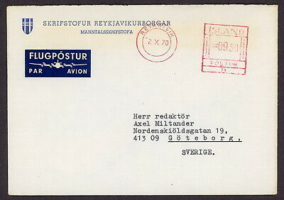 Iceland | 1970 Airmail Cover