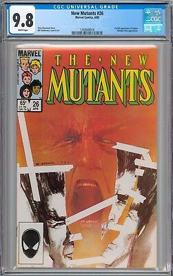 The New Mutants #26 CGC 9.8 NM/MT 1st Appearance of Legion WHITE Pages New Slab