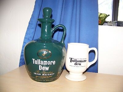 TULLAMORE DEW IRISH WHISKEY Decanter Set, Collectible, Home/Bar Decor, New Other