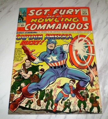 Sgt. Fury and His Howling Commandos #13 NM- 9.2 Unrestored 1964 Captain America