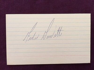 Andre Gaudette WHA Hockey Vintage Signed Index Card