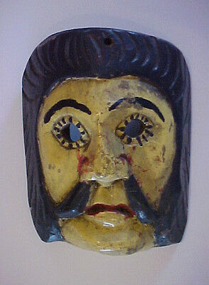 Vintage Guatemalan Mask/Conquest Dance/Wounded Soldier