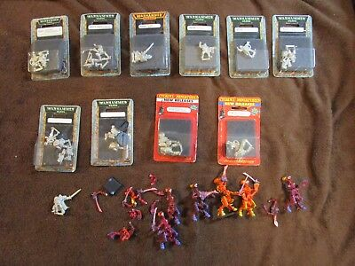 Lot of 10 Metal Warhammer 40K 40,0000 Blister plus extras!
