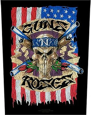 Guns N Roses flag and skull Back Patch XLG free worldwide shipping