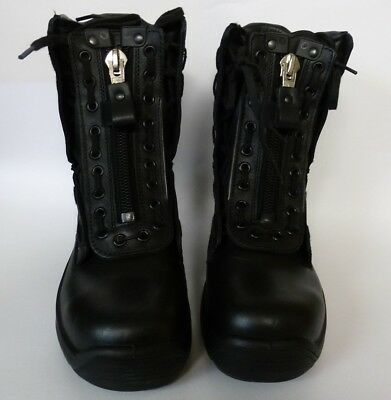 HAIX Airpower R2 Womens EMS & Station Black Leather Steel Toe Boots Size 5 m