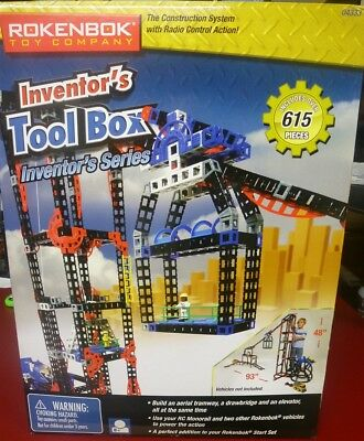 ROKENBOK 04333 Inventor's Tool Box 615 Pieces NEW SEALED