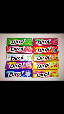 DIROL Chewing Gum 10 packs melon watermelon tropical berry cherry sweet mint